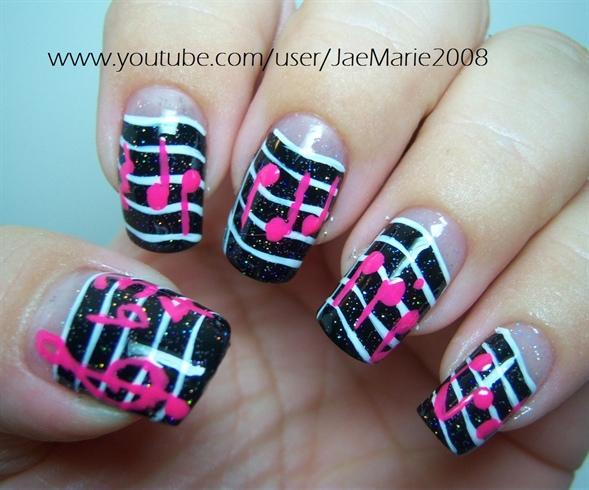 Music Notes Nail Art Design - Music Notes Nail Art Design - Nail Art Gallery