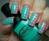 Fading Dots Nail Design