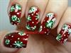 Retro Snowflakes Nail Design