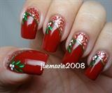 Mistletoe Vintage Nail Design