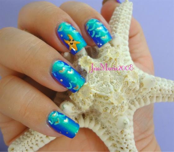 Mermaid Scales Nail Design