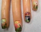 Trippy mushroom nails