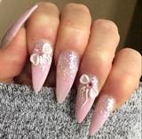Blushing Girl Pastel Pink Acrylic