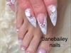 Bridal Wedding French Nails & Toes