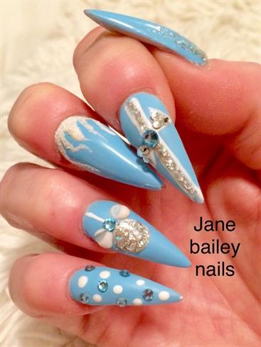 Christmas Acrylic Stiletto Nails
