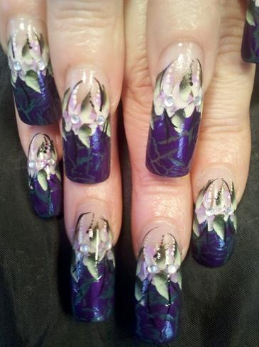 China Glaze purple crackle