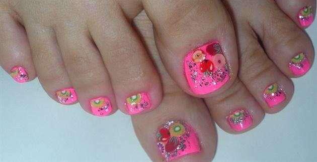 Tutti Frutti Fimo Toe Nail Art Nail Art Gallery