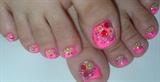 Tutti Frutti Fimo toe nail art