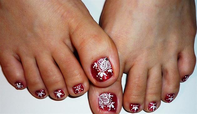 Lace toe nail art nail art gallery lace toe nail art prinsesfo Image collections