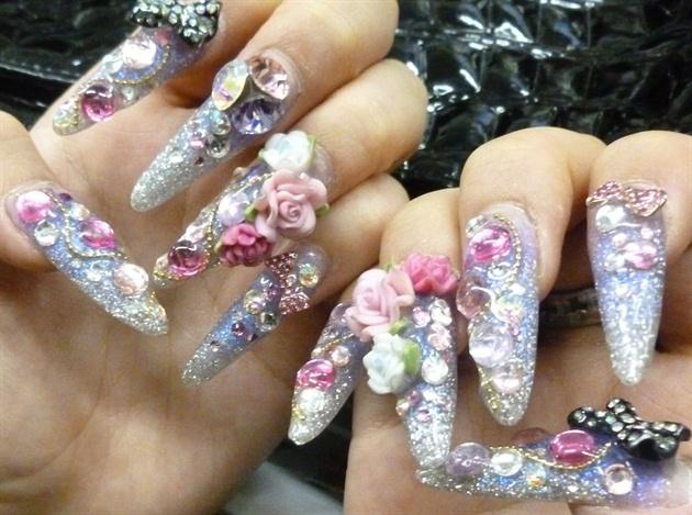 Extreme japanese nails nail art gallery extreme japanese nails prinsesfo Choice Image