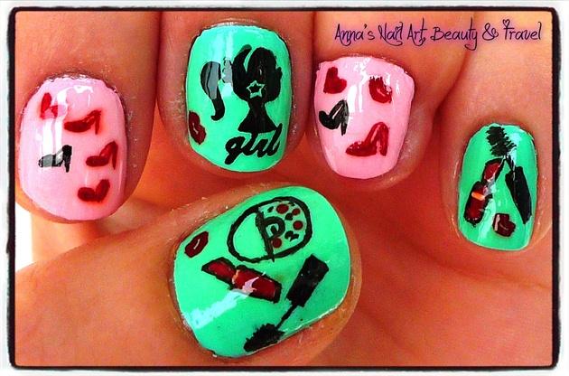 Barbie Girl Fashion Nails