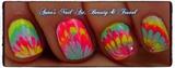 No polish water marble nail art