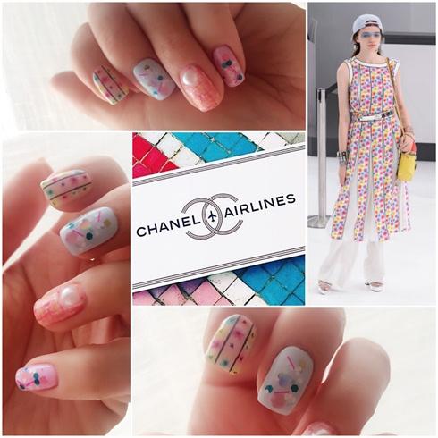 Nail art meets fashion- chanel SS 2016