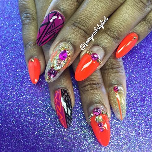 Orange And Magenta