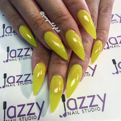 Yellow Jello Stilettos