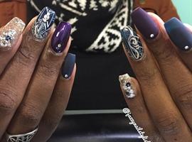 nail art: Matte And Shiny Combo