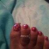 Glitters toes