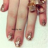 Glittery Golds