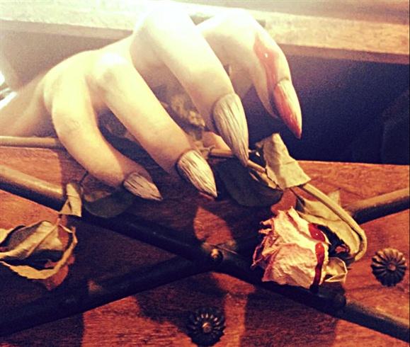 Dracula Themed Nails