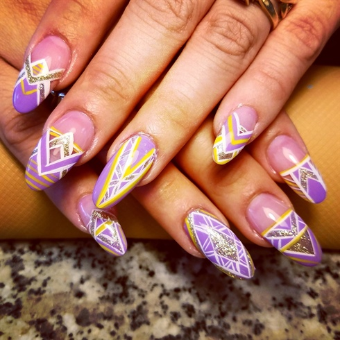 Lilac futuristic