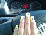 Neon Yellow/Green Diagonal