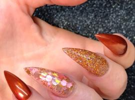 nail art: Coral Sunset