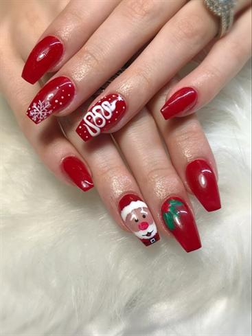 santa baby  nail art gallery