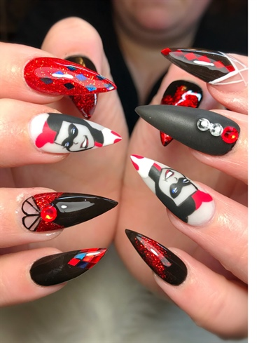 Harley Quinn Nail Art Gallery