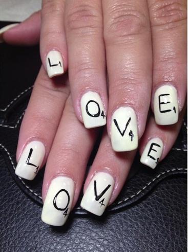 Scrabble Nails Nail Art Gallery