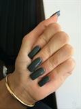 Green blue gel nails