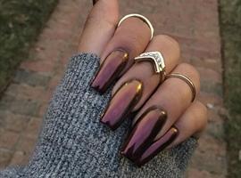 nail art: Metallic Luster