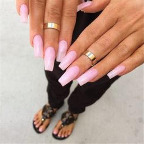 pink  nail art gallery