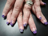 purple dots/circles & silver glitter