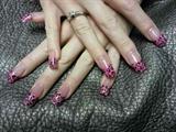 pink glitter, leopard print