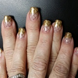 gold glitter fishnet