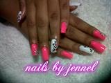 pink and white cheetah