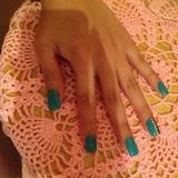Did My Own Nails ! Blue Aqua ! 😊