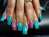 Pink&Blue Acrylic ! 😁