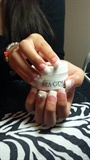 French Glitter White Tip . Fancy :)