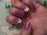 Hello Kitty dots Pink n' Blue (Left Hand