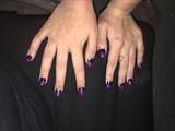 Purple tips black powder