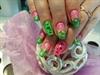Pink Green Glitter