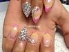 french glitter nails