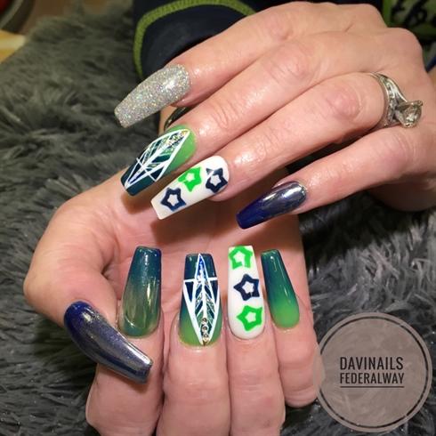Seahawks Nails Wwwgenialfotocom