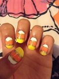 Cute Candy Corn Nails!!:)