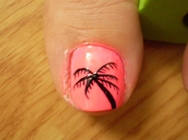 hot pink with black palm tree