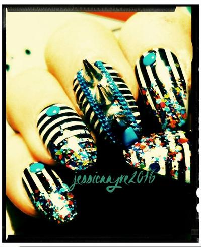 Glitter & Stripes
