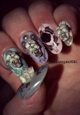 Pastel Halloween Nails