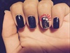 Black Rose Outline Nails