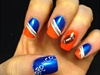 Denver Broncos Football Nails